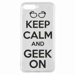 Чехол для Huawei Y6 2018 KEEP CALM and GEEK ON - FatLine