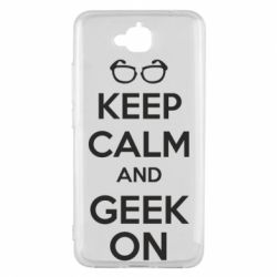 Чехол для Huawei Y6 Pro KEEP CALM and GEEK ON - FatLine