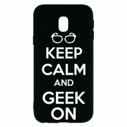Чехол для Samsung J3 2017 KEEP CALM and GEEK ON - FatLine