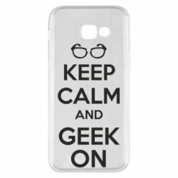 Чехол для Samsung A5 2017 KEEP CALM and GEEK ON - FatLine
