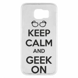 Чехол для Samsung S6 KEEP CALM and GEEK ON - FatLine