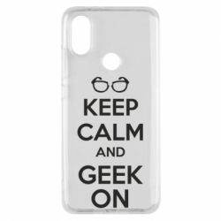 Чехол для Xiaomi Mi A2 KEEP CALM and GEEK ON - FatLine