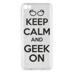 Чехол для Xiaomi Xiaomi Mi5/Mi5 Pro KEEP CALM and GEEK ON - FatLine