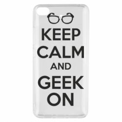 Чехол для Xiaomi Mi 5s KEEP CALM and GEEK ON - FatLine
