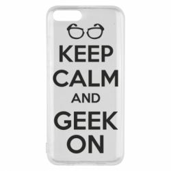 Чехол для Xiaomi Mi6 KEEP CALM and GEEK ON - FatLine