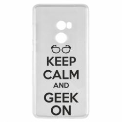 Чехол для Xiaomi Mi Mix 2 KEEP CALM and GEEK ON - FatLine
