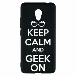 Чехол для Meizu M5c KEEP CALM and GEEK ON - FatLine