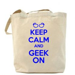 Сумка KEEP CALM and GEEK ON
