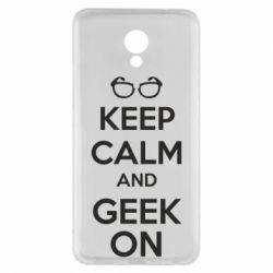 Чехол для Meizu M5 Note KEEP CALM and GEEK ON - FatLine