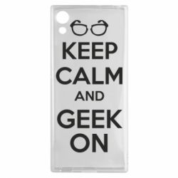 Чехол для Sony Xperia XA1 KEEP CALM and GEEK ON - FatLine