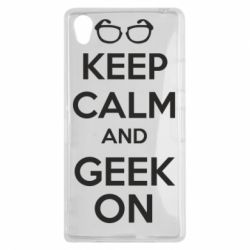 Чехол для Sony Xperia Z1 KEEP CALM and GEEK ON - FatLine