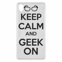 Чехол для Sony Xperia Z2 KEEP CALM and GEEK ON - FatLine