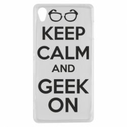 Чехол для Sony Xperia Z3 KEEP CALM and GEEK ON - FatLine