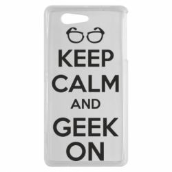 Чехол для Sony Xperia Z3 mini KEEP CALM and GEEK ON - FatLine