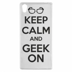 Чехол для Sony Xperia Z5 KEEP CALM and GEEK ON - FatLine