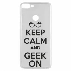 Чехол для Huawei P Smart KEEP CALM and GEEK ON - FatLine