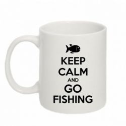 Кружка 320ml Keep Calm and go fishing