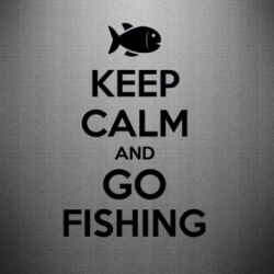 Наклейка Keep Calm and go fishing