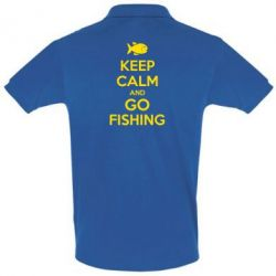 Футболка Поло Keep Calm and go fishing