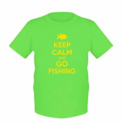 Детская футболка Keep Calm and go fishing - FatLine