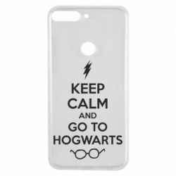 Чехол для Huawei Y7 Prime 2018 KEEP CALM and GO TO HOGWARTS - FatLine