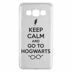 Чехол для Samsung A3 2015 KEEP CALM and GO TO HOGWARTS - FatLine