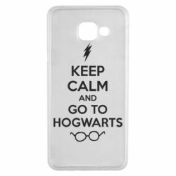 Чехол для Samsung A3 2016 KEEP CALM and GO TO HOGWARTS