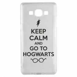 Чехол для Samsung A5 2015 KEEP CALM and GO TO HOGWARTS - FatLine