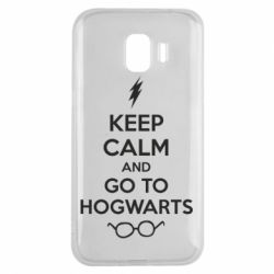Чехол для Samsung J2 2018 KEEP CALM and GO TO HOGWARTS - FatLine