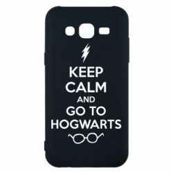 Чехол для Samsung J5 2015 KEEP CALM and GO TO HOGWARTS - FatLine