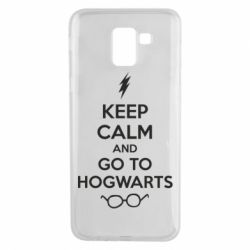 Чехол для Samsung J6 KEEP CALM and GO TO HOGWARTS