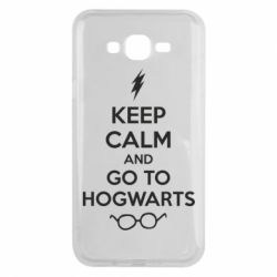 Чехол для Samsung J7 2015 KEEP CALM and GO TO HOGWARTS - FatLine