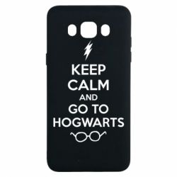 Чехол для Samsung J7 2016 KEEP CALM and GO TO HOGWARTS - FatLine