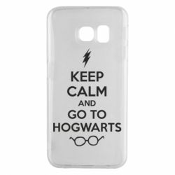 Чехол для Samsung S6 EDGE KEEP CALM and GO TO HOGWARTS - FatLine