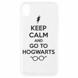 Чехол для iPhone XR KEEP CALM and GO TO HOGWARTS - FatLine