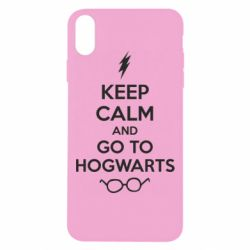 Чехол для iPhone Xs Max KEEP CALM and GO TO HOGWARTS - FatLine