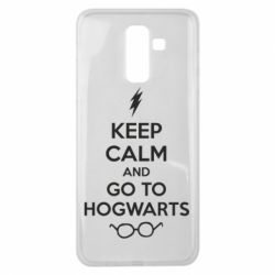 Чехол для Samsung J8 2018 KEEP CALM and GO TO HOGWARTS
