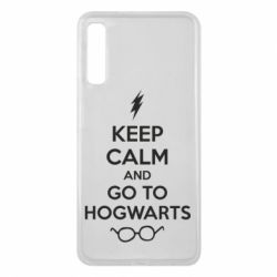 Чехол для Samsung A7 2018 KEEP CALM and GO TO HOGWARTS - FatLine