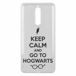 Чехол для Nokia 8 KEEP CALM and GO TO HOGWARTS - FatLine