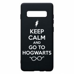 Чехол для Samsung S10+ KEEP CALM and GO TO HOGWARTS