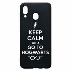 Чехол для Samsung A20 KEEP CALM and GO TO HOGWARTS