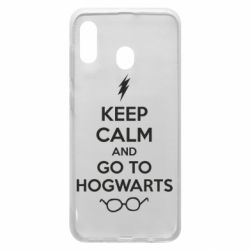 Чехол для Samsung A30 KEEP CALM and GO TO HOGWARTS