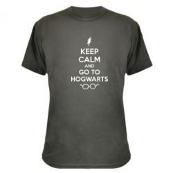Камуфляжна футболка KEEP CALM and GO TO HOGWARTS