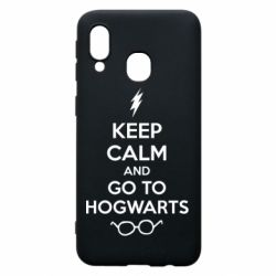 Чехол для Samsung A40 KEEP CALM and GO TO HOGWARTS