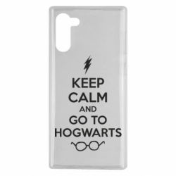 Чехол для Samsung Note 10 KEEP CALM and GO TO HOGWARTS