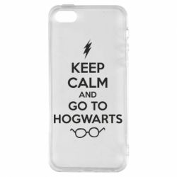 Чехол для iPhone5/5S/SE KEEP CALM and GO TO HOGWARTS - FatLine
