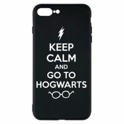 Чехол для iPhone 8 Plus KEEP CALM and GO TO HOGWARTS - FatLine
