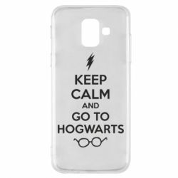 Чехол для Samsung A6 2018 KEEP CALM and GO TO HOGWARTS - FatLine