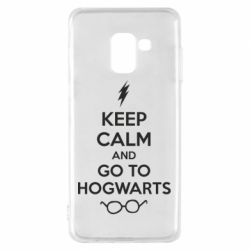Чехол для Samsung A8 2018 KEEP CALM and GO TO HOGWARTS - FatLine