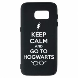Чехол для Samsung S7 KEEP CALM and GO TO HOGWARTS - FatLine